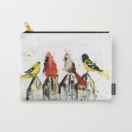 Birds on a Fence - Judgey Birds Carry-All Pouch