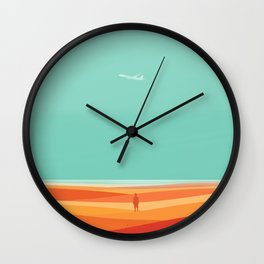 Where the sea meets the sky Wall Clock