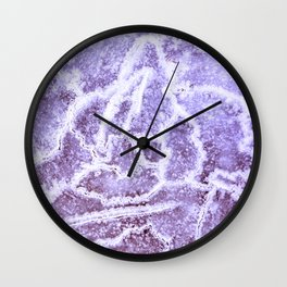 Cracks in ice Wall Clock