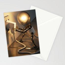Light Bulb Plug Stationery Cards