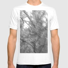 Treeage I - BW White MEDIUM Mens Fitted Tee