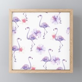 purple flamingo Art Print Framed Mini Art Print
