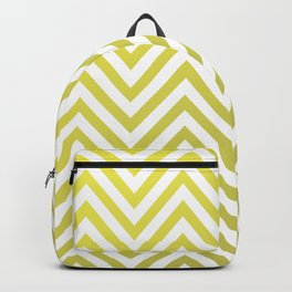 Geometric Lines Pattern Yellow / Golden Backpack