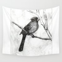 cardinal Wall Tapestries featuring Cardinal by Rebecca Joy - Joy Art and Design