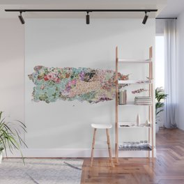 Puerto Rico map Wall Mural