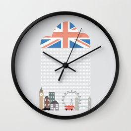 Raining Over London Wall Clock