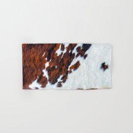 Rustic cow faux fur, cowhide Hand & Bath Towel