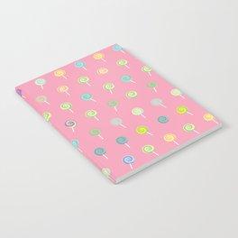 Cute Lollipop Pattern Notebook
