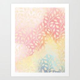 Lovely Leaf Pattern Art Print