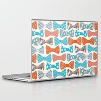 bows Laptop & iPad Skins featuring Geometric Bows by Wild Notions