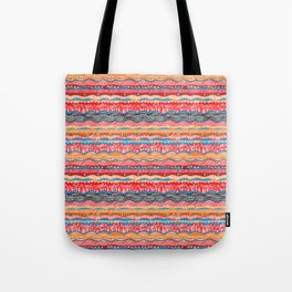 Bohemian indian Style design in red Tote Bag