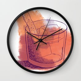 """""""Keep It Sweet and Bitter"""" Wall Clock"""