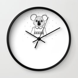 piña-koala Wall Clock
