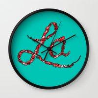 la Wall Clocks featuring LA by Chris Piascik