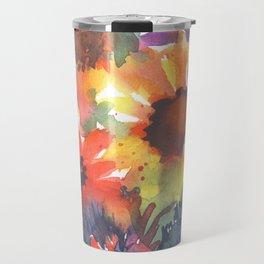 Rainy Day Sunflowers Travel Mug