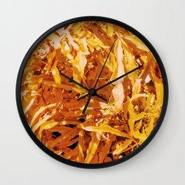 Yellow Garden Flowers Wall Clock
