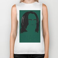 snape Biker Tanks featuring Snape and you by Ally Simmons