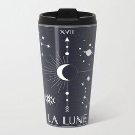 The Moon or La Lune Tarot Metal Travel Mug