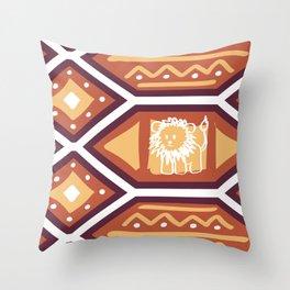 African Heat Throw Pillow