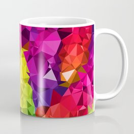 Rainbow Poly Low Coffee Mug