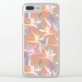 Birdie Tropical Blush Clear iPhone Case