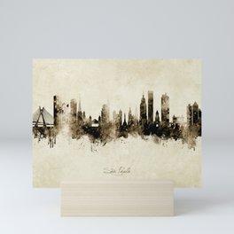 São Paulo Skyline Brazil Mini Art Print