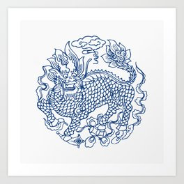 Chinese Kylin Art Print