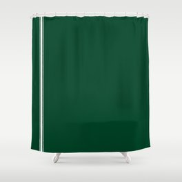 British Racing Green Shower Curtain