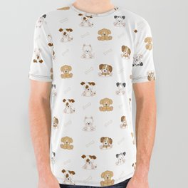 Puppy Dog Baby Nursery Wall Art All Over Graphic Tee