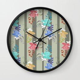 Multi-colored roses, retro roses, retro Wall Clock