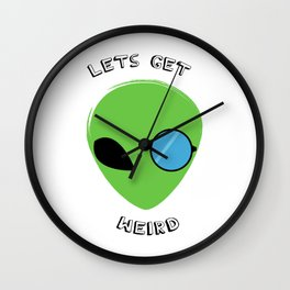 lets get weird Wall Clock