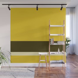 Solid Three-Tone Gold w/ Divider Lines - Art Abstract Illustraton Art Print Wall Mural