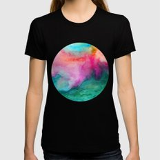 Staring at the Ceiling Black Womens Fitted Tee MEDIUM