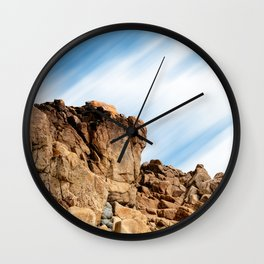 Rocky landscape in the coast of Brittany II Wall Clock