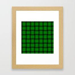 Large Green Weave Framed Art Print