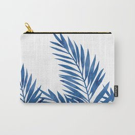 Palm Leaves Dark Blue Carry-All Pouch