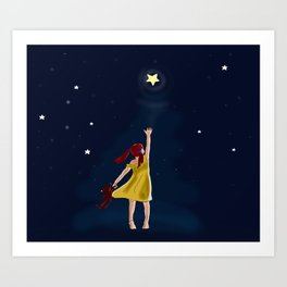 Reaching for the stars Art Print