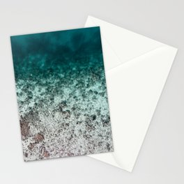 Aerial of an Ocean Fade Art Print Stationery Cards