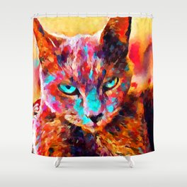 Russian Blue 2 Shower Curtain