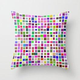 color rectangles 001 Throw Pillow