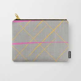 Modern pink yellow watercolor stripes pattern Carry-All Pouch
