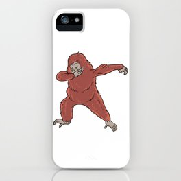 Cute Dabbing Orangutan Gift Idea iPhone Case