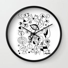 Joan Miro Peces De Colores (Colorful Fish) T Shirt, Artwork Reproduction Wall Clock