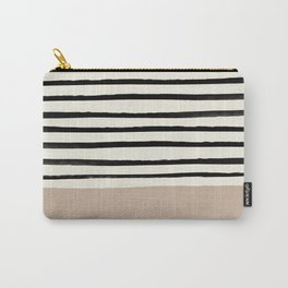 Latte & Stripes Carry-All Pouch