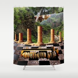 The Elemental Tourist - Earth Shower Curtain