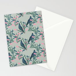 Kokako Wallpaper Pattern Stationery Cards