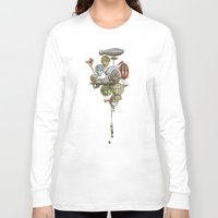 ballon Long Sleeve T-shirts featuring The Great Balloon Adventure by Eric Fan