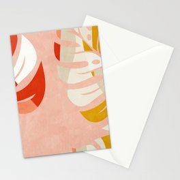 shapes leave minimal abstract art Stationery Cards