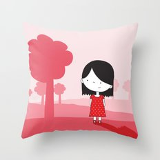 Polkadot Dress Throw Pillow