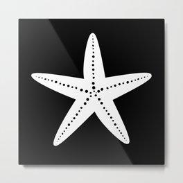 Starfish (White & Black) Metal Print